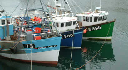 Keriolet in crabbers tier at Newlyn having been delivered from St Ives to her new home in Newlyn